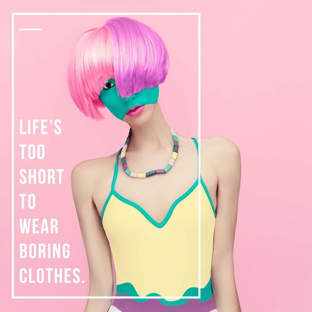 Modèle de visuel Fashion quote with Unusual Woman - Instagram