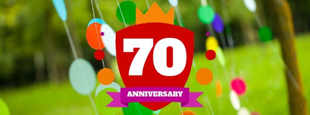 Anniversary celebration template — Créer un visuel