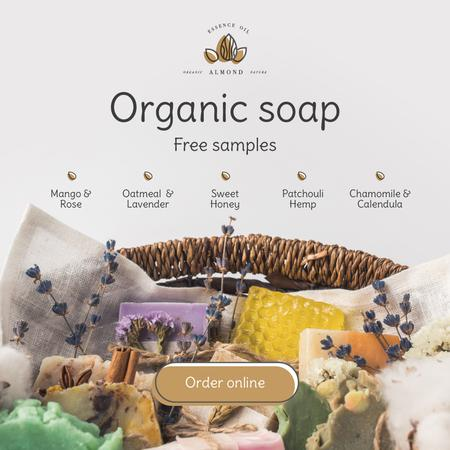 Template di design Natural Handmade Soap Shop Ad Instagram AD