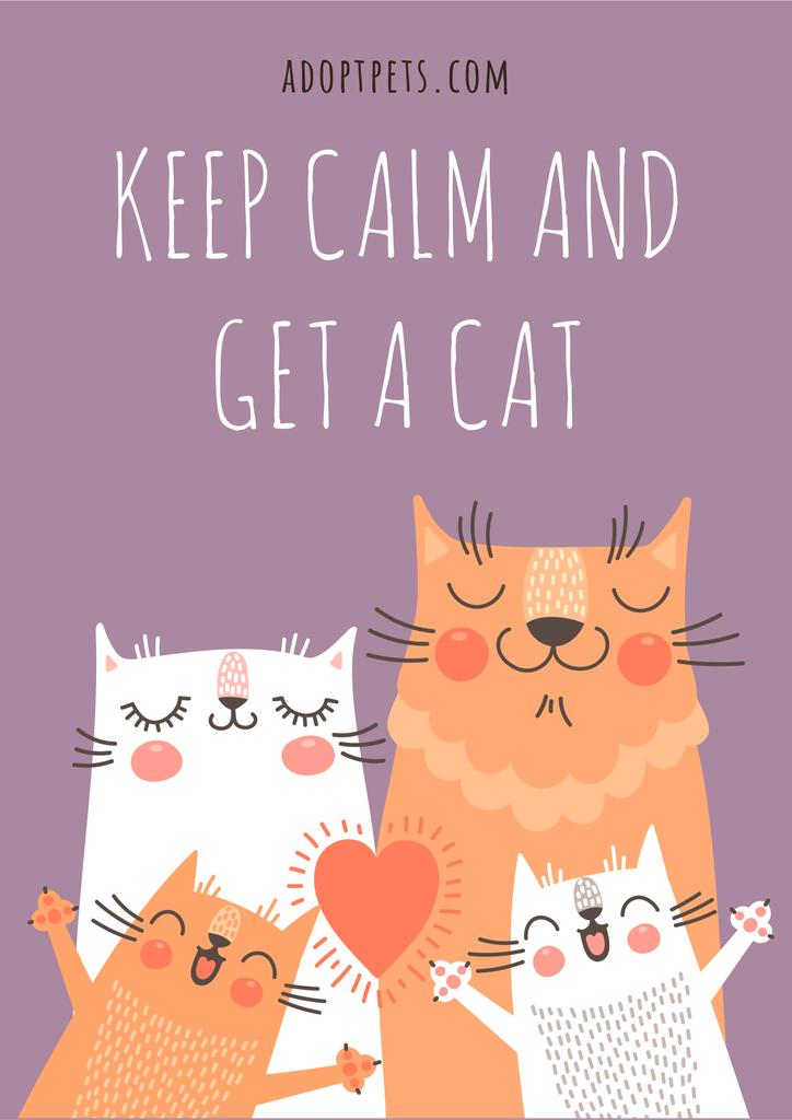 Keep calm and get a Cat — Créer un visuel