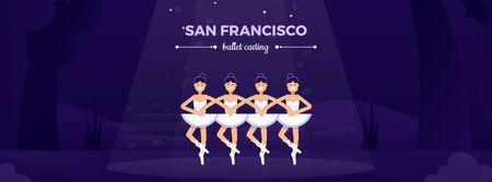 Plantilla de diseño de Ballerinas performing Swan Lake Facebook Video cover