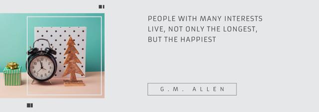 Modèle de visuel Inspirational Quote about Interests with alarm clock - Tumblr