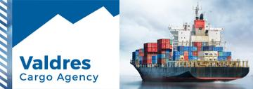 Cargo Agency Ad Ship with Containers | Tumblr Banner Template