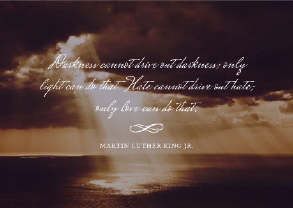 Martin Luther King day card — Créer un visuel