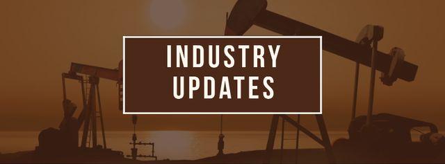 Modèle de visuel Industry updates Annoucement - Facebook cover