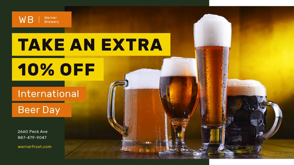 Beer Day Offer Various Glasses Types | Facebook Event Cover Template — Crea un design