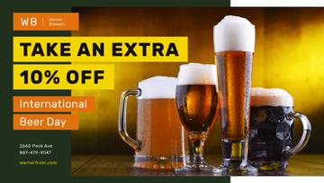 Beer Day Offer Various Glasses Types | Facebook Event Cover Template