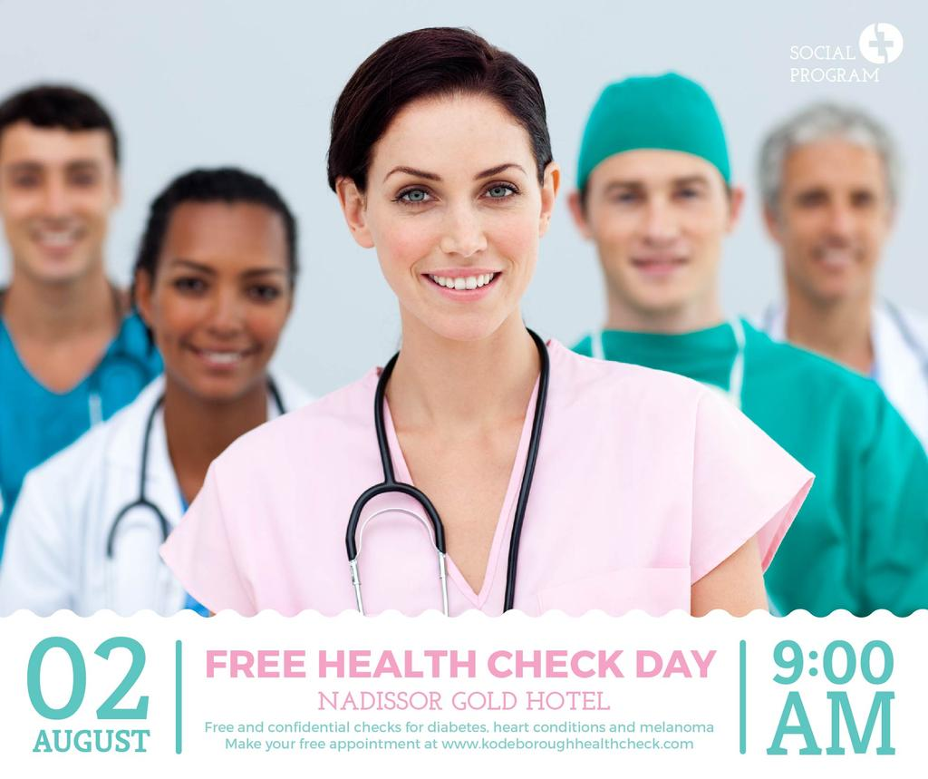 Free health check day advertisement — Maak een ontwerp