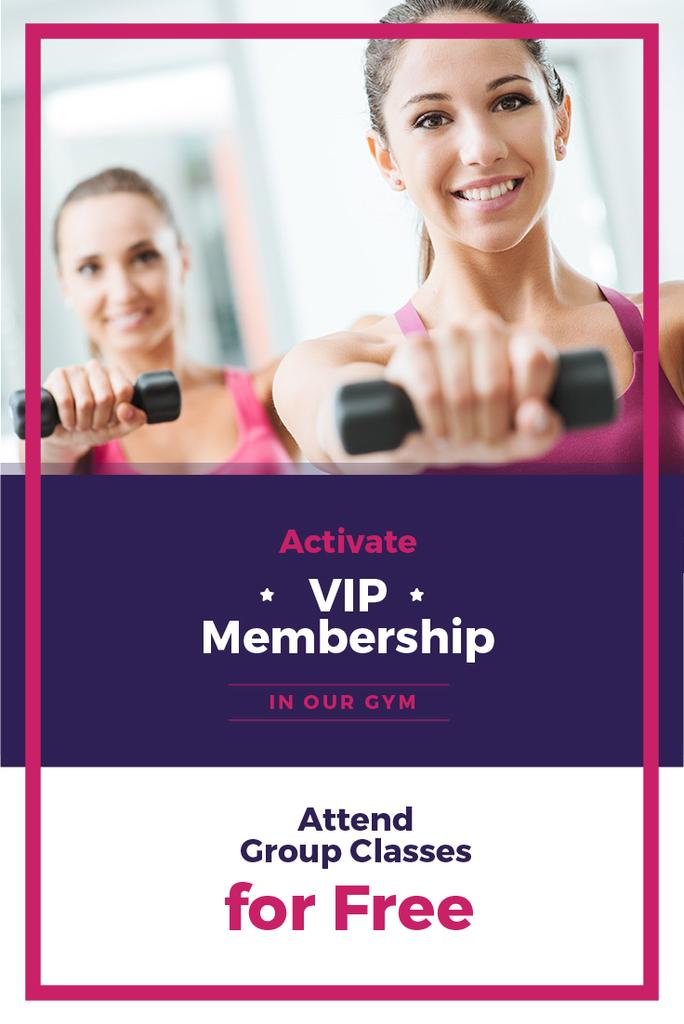 VIP membership car for gym — Crear un diseño