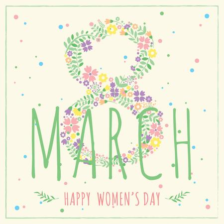 Ontwerpsjabloon van Instagram van Women's day greeting card