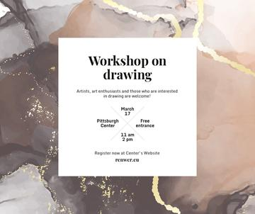 Art Workshop promotion on watercolor pattern