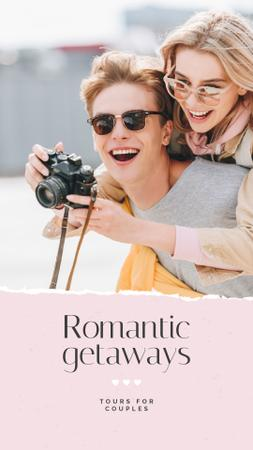 Ontwerpsjabloon van Instagram Story van Special Tour Offer with Romantic Couple