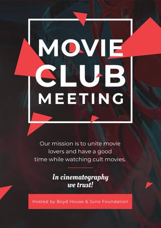 Movie club meeting Invitation Poster – шаблон для дизайна
