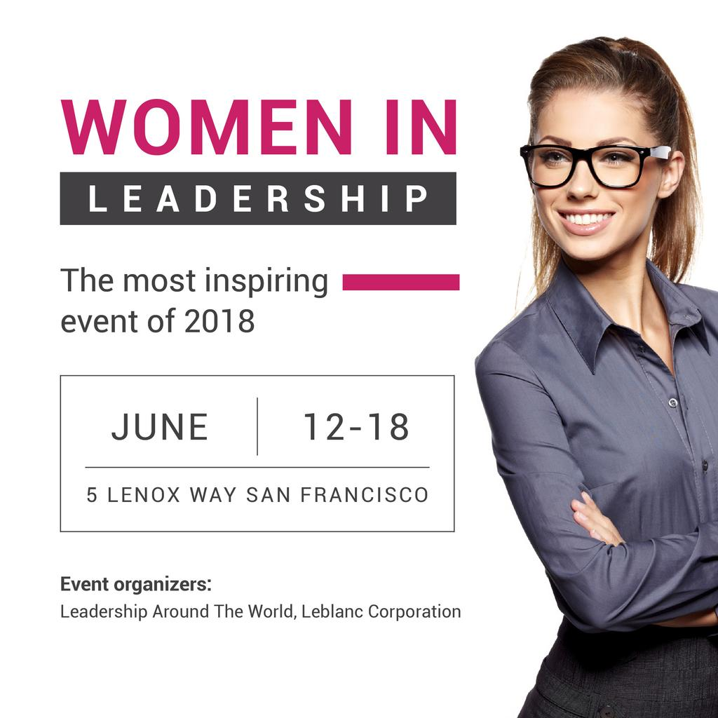 Women in Leadership event — Créer un visuel