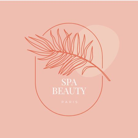 Spa Salon Leaf emblem Logo Modelo de Design