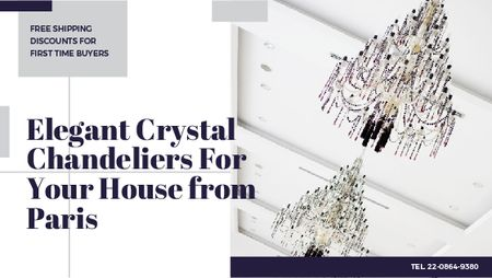 Template di design Elegant crystal Chandeliers offer Title