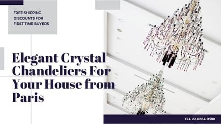 Elegant crystal Chandeliers offer Titleデザインテンプレート