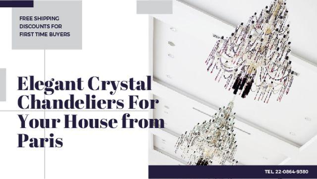 Plantilla de diseño de Elegant crystal Chandeliers offer Title