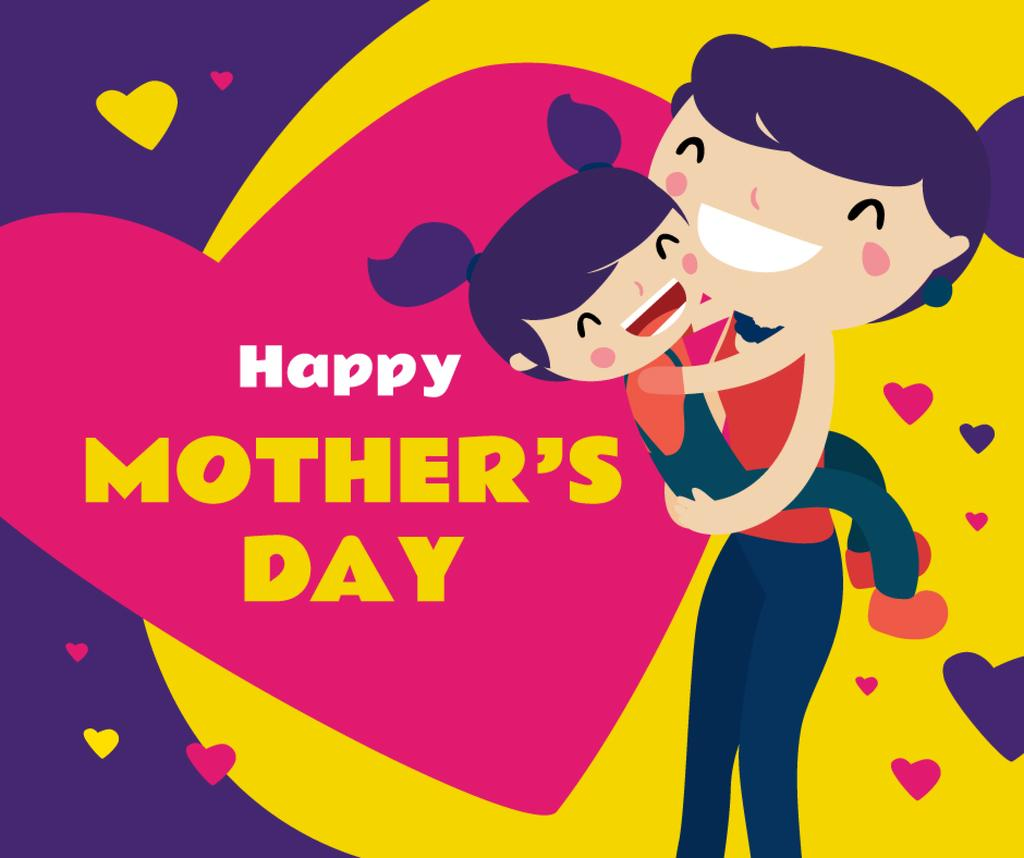 Happy Mom with daughter on Mother's Day — Crear un diseño