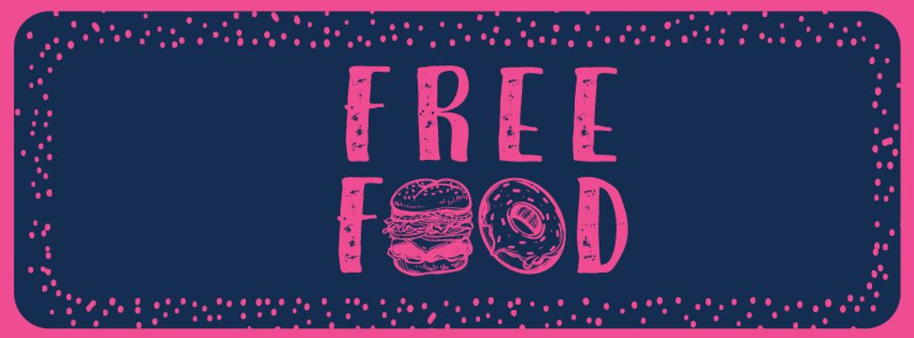 Free Food inscription with fast food icons —デザインを作成する
