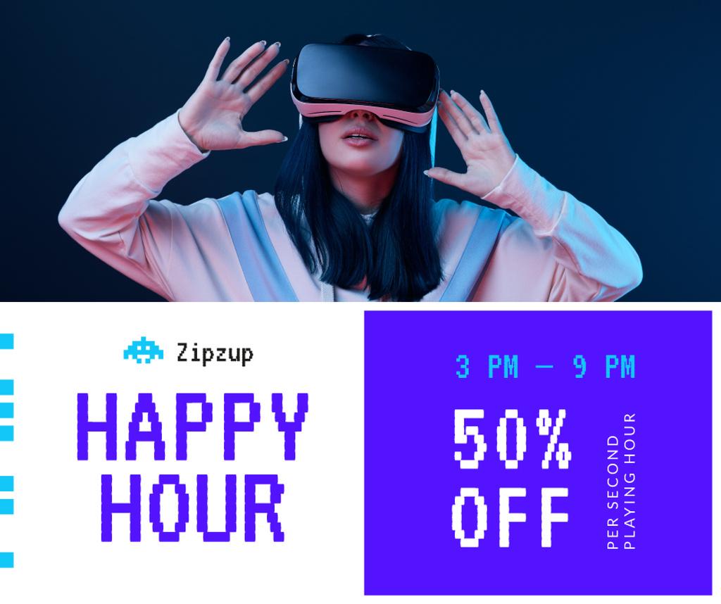Gadgets Sale Girl in VR Glasses — Crea un design