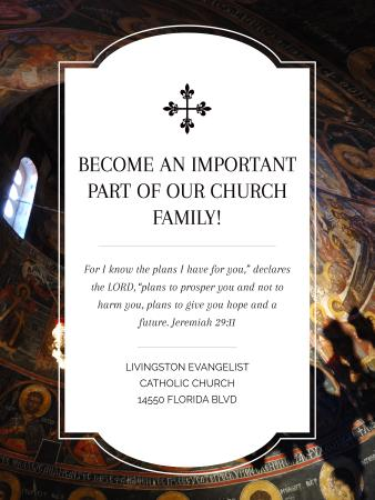 Template di design Church Invitation Old Cathedral View Poster US