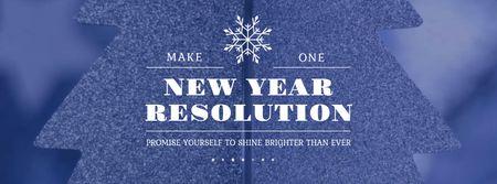 Modèle de visuel New Year Resolution Inspiration Glittering Tree - Facebook Video cover