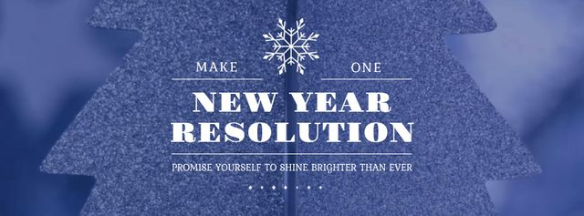 Plantilla de diseño de New Year Resolution Inspiration Glittering Tree Facebook Video cover