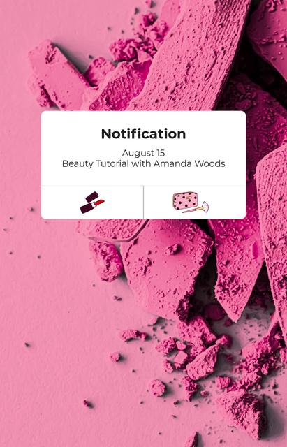 Beauty tutorial ad on Pink blush IGTV Cover – шаблон для дизайну