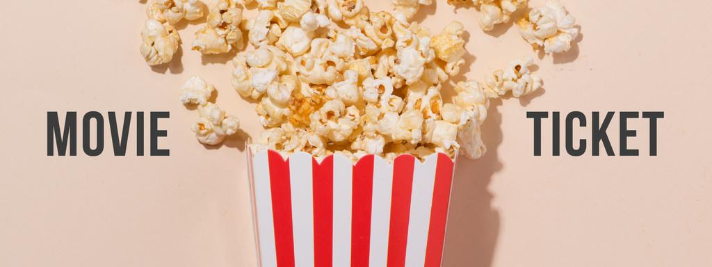 Movie with Sprinkled popcorn — Crea un design