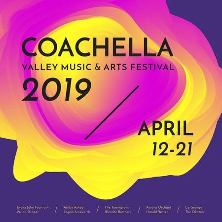 Ontwerpsjabloon van Instagram AD van Coachella festival futuristic invitation
