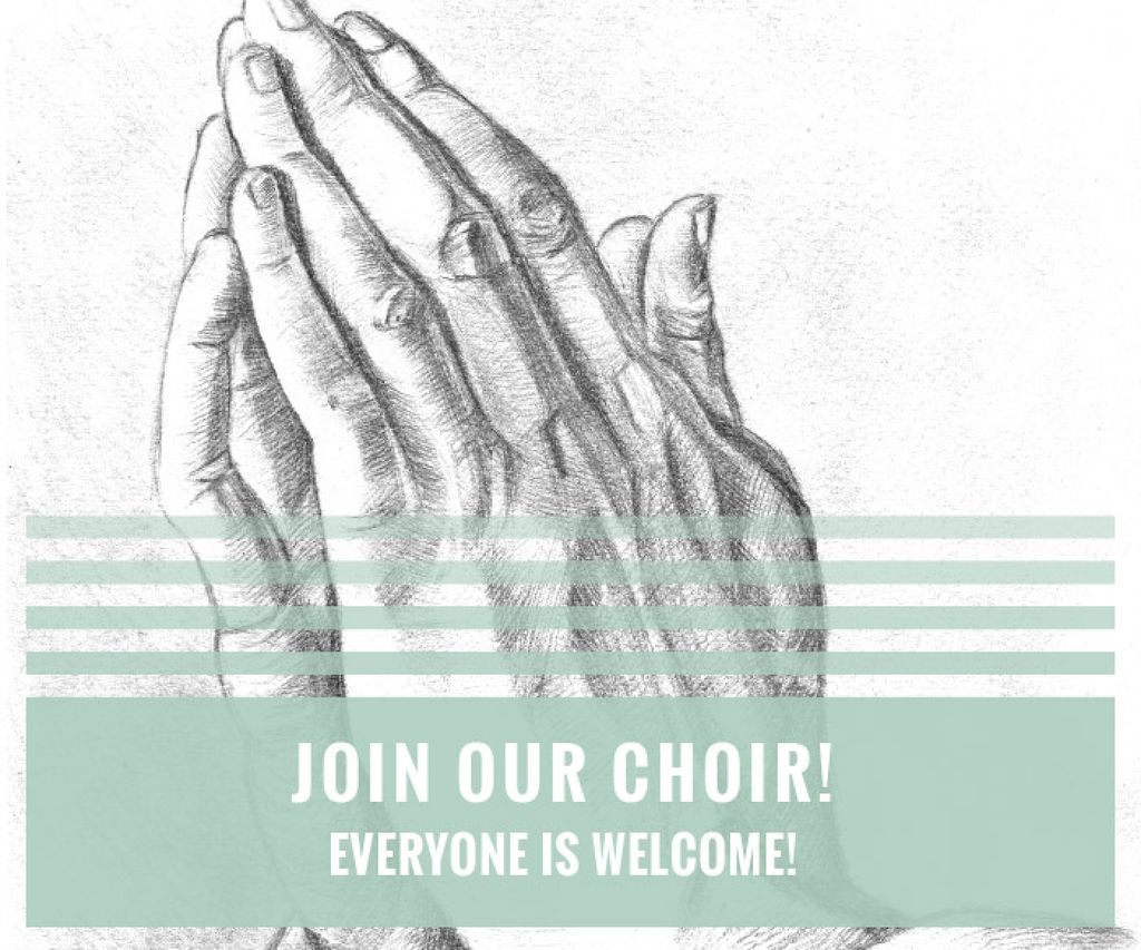 Invitation to a religious choir — ein Design erstellen