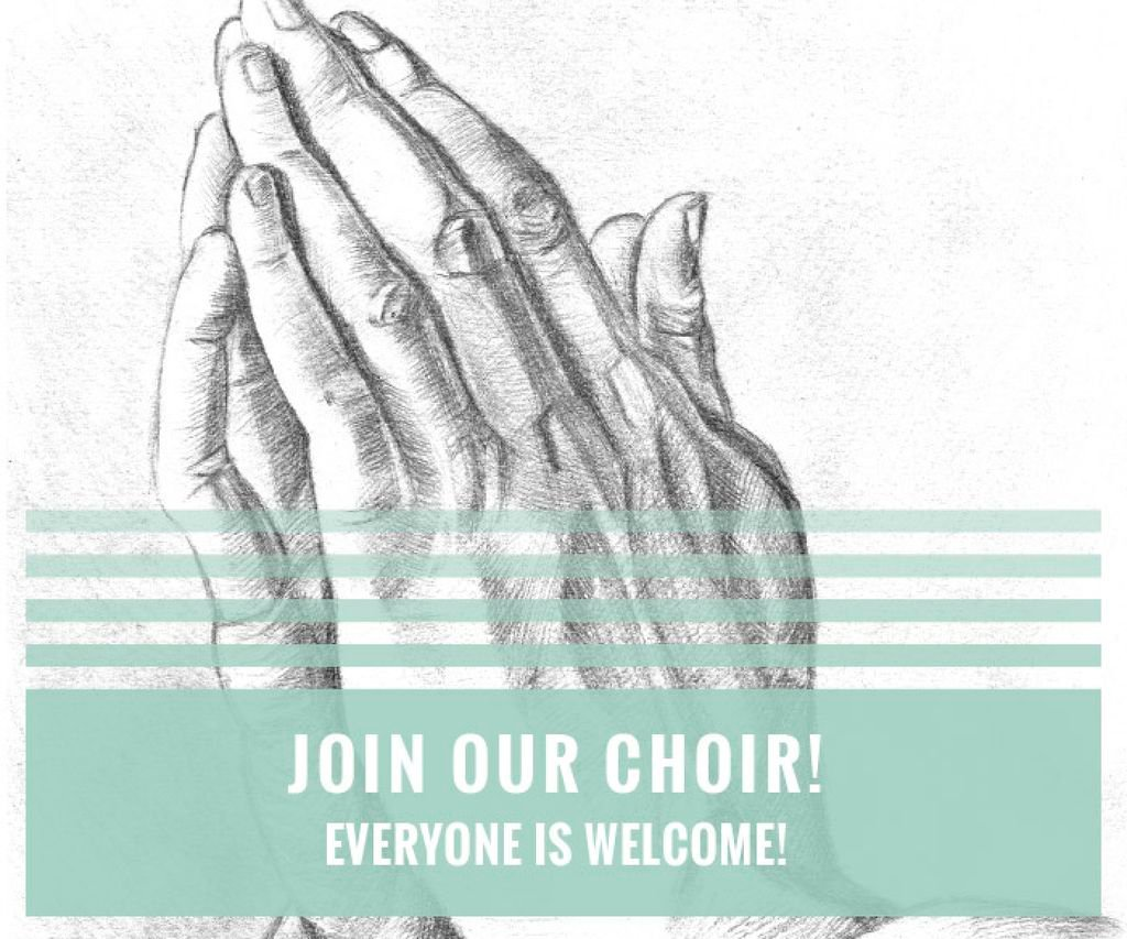 Invitation to a religious choir — Crea un design