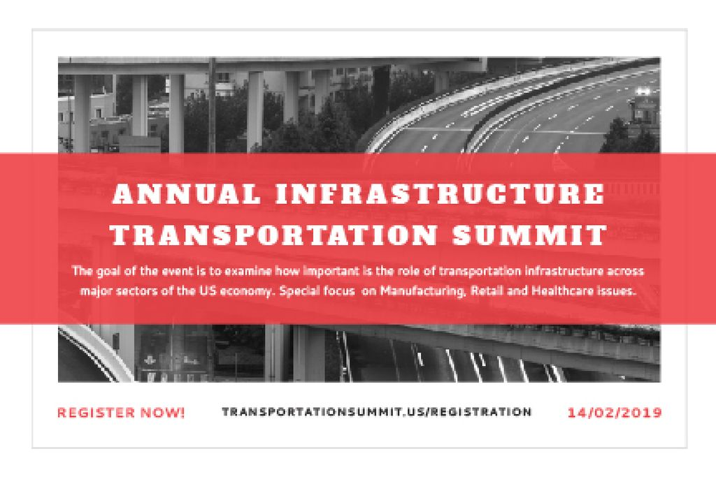 Annual infrastructure transportation summit — Modelo de projeto