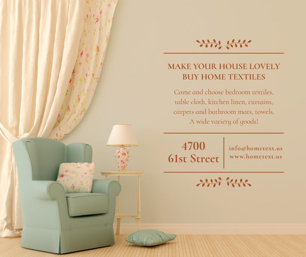 Furniture Sale with Armchair in cozy room — Modelo de projeto