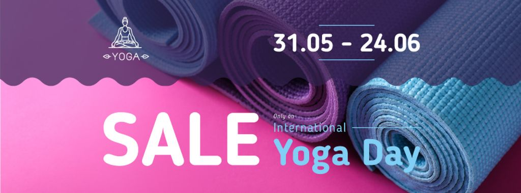 Special Offer with Row of yoga mats — Créer un visuel
