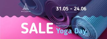 Special Offer with Row of yoga mats