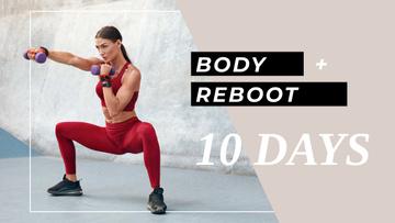 Sportive Woman for Workout Program