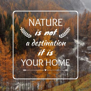Motivational quote about Nature