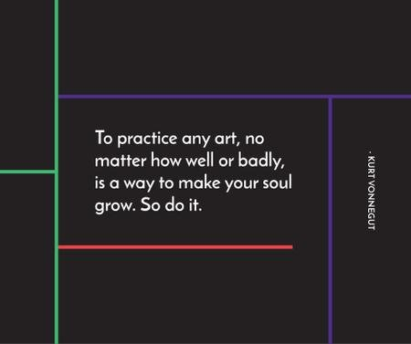 Plantilla de diseño de Art Quote in Linear Geometric Frame Facebook