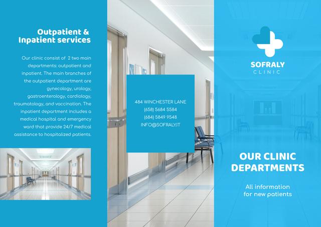 Plantilla de diseño de Clinic Services Brochure Ad Brochure