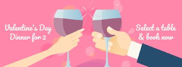 Lovers with wine on Valentine's Dinner