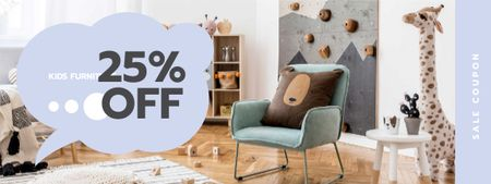 Kids Furniture sale with Cozy Nursery Coupon – шаблон для дизайну