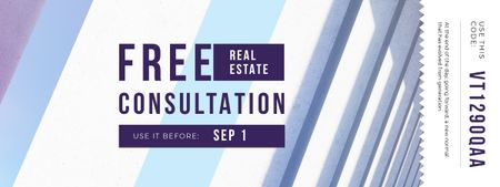 Gift Offer on Real Estate Consultation Coupon Design Template