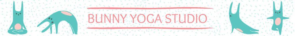Yoga Studio Ad Bunny Performing Asana — Maak een ontwerp