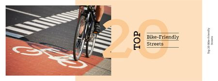 Plantilla de diseño de Riding bike in city Facebook cover