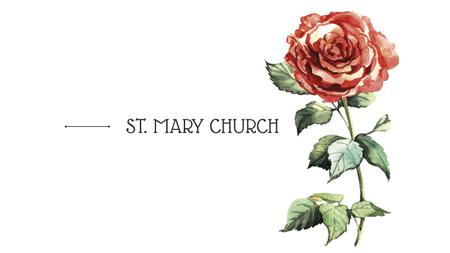 Modèle de visuel St. Mary Church with Rose illustration - Youtube
