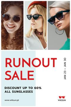 Glasses Offer Women Wearing Sunglasses | Pinterest Template