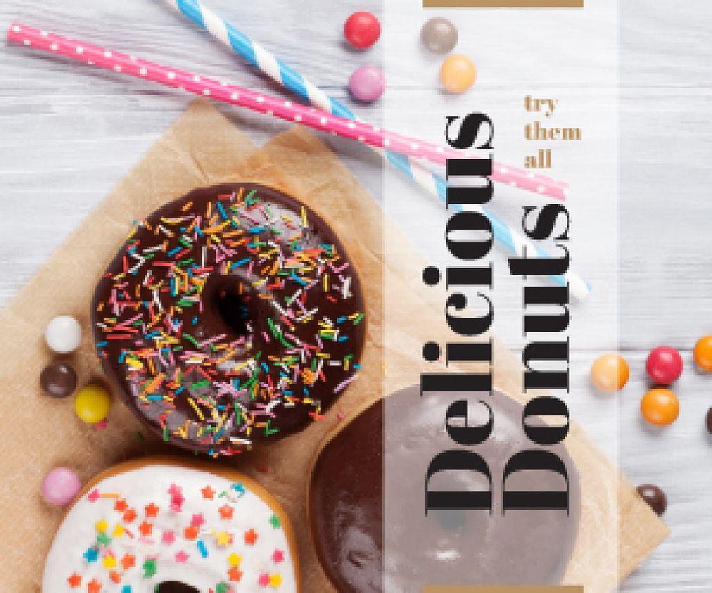 Advertisement of delicious donuts — Maak een ontwerp