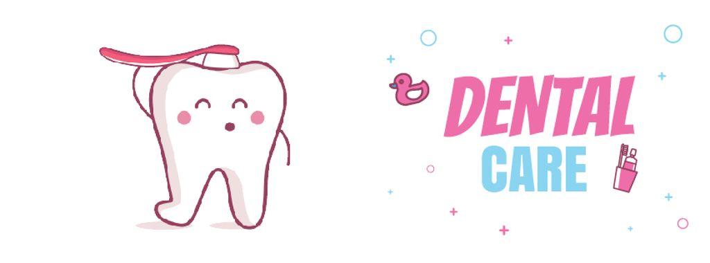 Cartoon tooth brushing itself — Создать дизайн